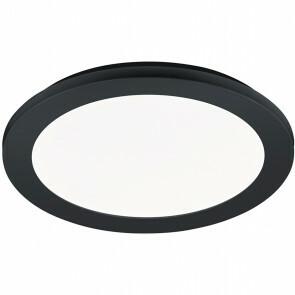 LED Plafondlamp - Trion Camy - Opbouw Rond 15W - Spatwaterdicht IP44 - Dimbaar - Warm Wit 3000K - Mat Zwart