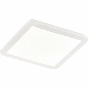 LED Plafondlamp - Trion Camy - Opbouw Vierkant 18W - Spatwaterdicht IP44 - Dimbaar - Warm Wit 3000K - Mat Wit