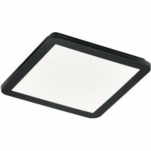 LED Plafondlamp - Trion Camy - Opbouw Vierkant 18W - Spatwaterdicht IP44 - Dimbaar - Warm Wit 3000K - Mat Zwart