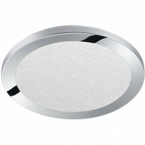 LED Plafondlamp - Trion Ceaniry - Opbouw Rond 15W - Spatwaterdicht IP44 - Dimbaar - Warm Wit 3000K - Glans Chroom