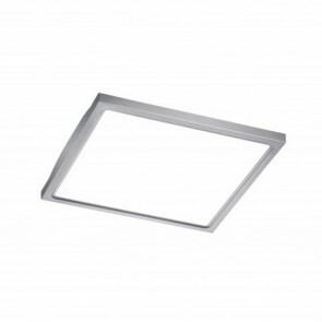 LED Plafondlamp - Trion Foturo - 12W - Warm Wit 3500K - Vierkant - Mat Nikkel - RVS