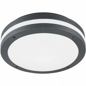 LED Plafondlamp - Trion Keraly - Opbouw Rond - Bewegingssensor - Waterdicht - 12W - Mat Zwart - Kunststof