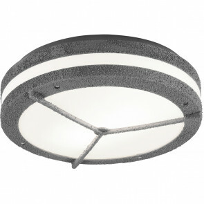 LED Plafondlamp - Trion Murinay - Opbouw Rond - Waterdicht IP54 - E27 Fitting - 2-lichts - Beton Look - Kunststof