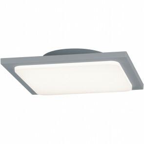 LED Plafondlamp - Trion Tovery - Opbouw Vierkant 18W - Waterdicht IP54 - Warm Wit 3000K - Mat Titaan - Aluminium