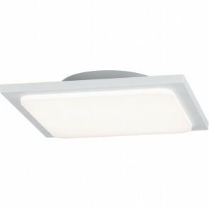 LED Plafondlamp - Trion Tovery - Opbouw Vierkant 18W - Waterdicht IP54 - Warm Wit 3000K - Mat Wit - Aluminium
