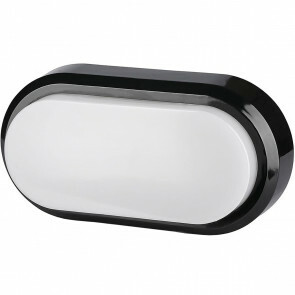 LED Plafondlamp - Viron Herton - 8W - Opbouw Ovaal - Waterdicht IP54 - Warm Wit 3000K - Mat Zwart - Kunststof