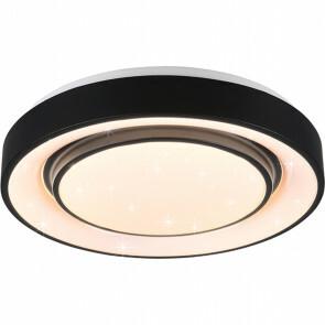 LED Plafondlamp WiZ - Plafondverlichting - Trion Monan - 20W - Aanpasbare Kleur - RGBW - Rond - Mat Zwart - Aluminium