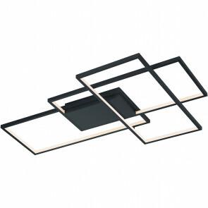LED Plafondlamp WiZ - Plafondverlichting - Trion Tiagi - 40W - Aanpasbare Kleur - RGBW - Rechthoek - Mat Zwart - Aluminium