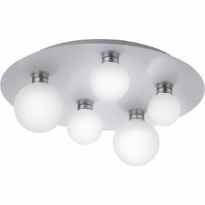 LED Plafondlamp WiZ - Trion Dulpio - 15W - Aanpasbare Kleur - Dimbaar - Afstandsbediening - Rond - Mat Nikkel - Aluminium