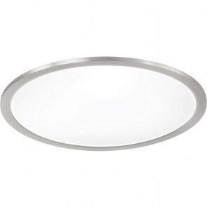 LED Plafondlamp WiZ - Trion Givon - 20W - Aanpasbare Kleur - Dimbaar - Afstandsbediening - Rond - Mat Nikkel - Aluminium