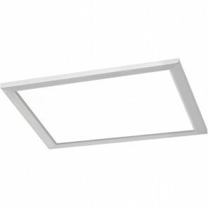 LED Plafondlamp WiZ - Trion Givon - 20W - Aanpasbare Kleur - Dimbaar - Afstandsbediening - Vierkant - Mat Nikkel - Aluminium