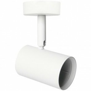 LED Plafondspot - Facto Colri - GU10 Fitting - 1-lichts - Rond - Mat Wit - Kantelbaar - Aluminium