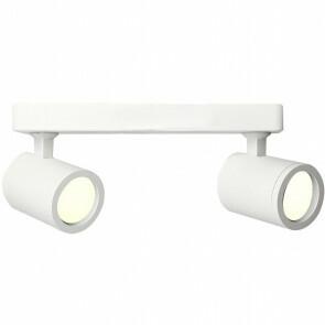 LED Plafondspot - Facto Colri - GU10 Fitting - 2-lichts - Rond - Mat Wit - Kantelbaar - Aluminium