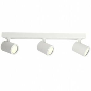 LED Plafondspot - Facto Colri - GU10 Fitting - 3-lichts - Rond - Mat Wit - Kantelbaar - Aluminium