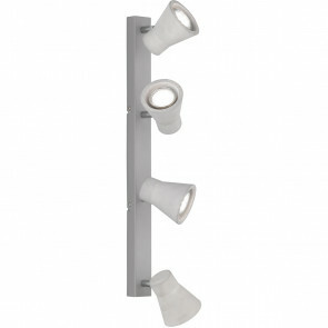LED Plafondspot - Trion Antyna - GU10 Fitting - 12W - Warm Wit 3000K - 4-lichts - Rond - Beton Look - Aluminium