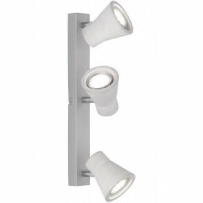 LED Plafondspot - Trion Antyna - GU10 Fitting - 9W - Warm Wit 3000K - 3-lichts - Rond - Beton Look - Aluminium