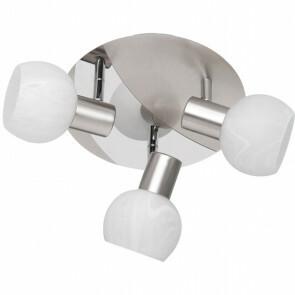 LED Plafondspot - Trion Besina - E14 Fitting - 3-lichts - Rond - Mat Nikkel - Aluminium