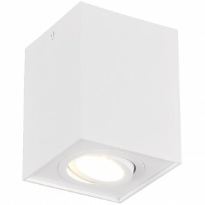LED Plafondspot - Trion Bisqy - GU10 Fitting - 1-lichts - Vierkant - Mat Wit - Aluminium
