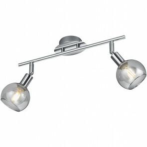 LED Plafondspot - Trion Brista - E14 Fitting - 2-lichts - Rond - Glans Chroom - Aluminium
