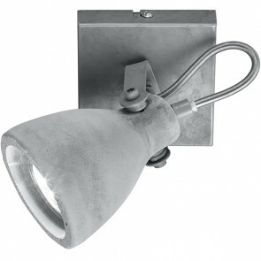 LED Plafondspot - Trion Conry - GU10 Fitting - 1-lichts - Vierkant - Mat Grijs Beton Look - Aluminium