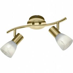 LED Plafondspot - Trion Levino - E14 Fitting - Warm Wit 3000K - 2-lichts - Rechthoek - Mat Goud - Aluminium