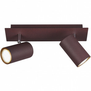 LED Plafondspot - Trion Mary - GU10 Fitting - 2-lichts - Rechthoek - Roestkleur - Aluminium