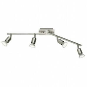 LED Plafondspot - Trion Nimo - GU10 Fitting - 12W - Warm Wit 3000K - 4-lichts - Rechthoek - Mat Nikkel - Aluminium