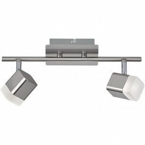 LED Plafondspot - Trion Ribon - 8W - Warm Wit 3000K - 2-lichts - Rechthoek - Mat Nikkel - Aluminium
