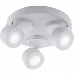 LED Plafondspot WiZ - Trion Sanca - 9W - Aanpasbare Kleur - 3-lichts - Rond - Mat Wit - Aluminium