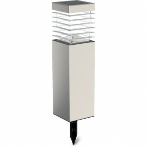 LED Priklamp met Zonne-energie - Aigi Relino - 0.4W - Warm Wit 3000K - Mat Zilver - Kunststof