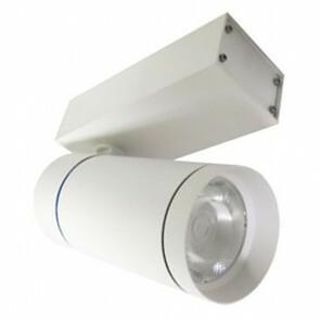 LED Railverlichting - Track Spot - Facto - 30W 3 Fase - Rond - Warm Wit 3000K - Mat Wit Aluminium