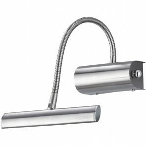 LED Spiegelverlichting - Schilderijverlichting - Trion Curty - Ovaal 4W - Dimbaar - Mat Nikkel Aluminium - Verstelbaar