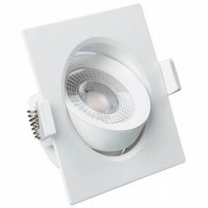 LED Spot - Inbouwspot - Facto Niron - 7W - Natuurlijk Wit 4000K - Mat Wit - Vierkant - Kantelbaar