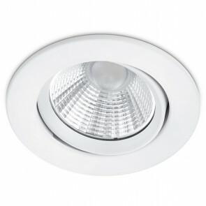 LED Spot - Inbouwspot - Trion Paniro - Rond 5W - Dimbaar - Warm Wit 3000K - Mat Wit - Aluminium - Ø80mm