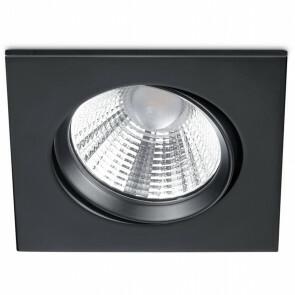 LED Spot - Inbouwspot - Trion Paniro - Vierkant 5W - Dimbaar - Warm Wit 3000K - Mat Zwart - Aluminium - 80mm