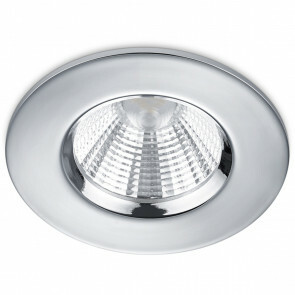 LED Spot - Inbouwspot - Trion Zagrona - 5W - Waterdicht IP65 - Dimbaar - Warm Wit 3000K - Glans Chroom - Aluminium - Rond