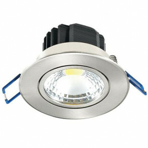 LED Spot / LED Downlight Lila Rond Inbouw 5W 6400K Helder/Koud Wit Aluminium Mat Chroom Armatuur/Frame Kantelbaar 83mm