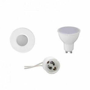LED Spot Set - GU10 Fitting - Waterdicht IP65 - Inbouw Rond - Mat Wit - 6W - Warm Wit 3000K - Ø82mm
