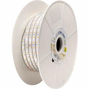 LED Strip - Aigi Stribo - 50 Meter - Dimbaar - IP65 Waterdicht - Warm Wit 3000K - 5050 SMD 230V