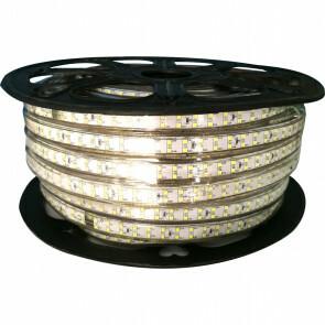 LED Strip - Aigi Strobi - 50 Meter - Dimbaar - IP65 Waterdicht - Helder/Koud Wit 6500K - 2835 SMD 230V