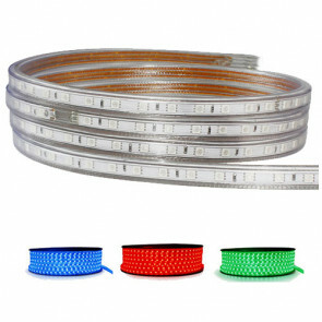 LED Strip - RGB - 5050 SMD - 1 Meter - Dimbaar - IP65 Waterdicht - 230V