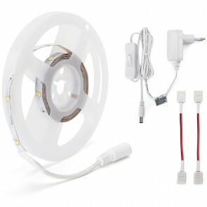 LED Strip Set - Aigi Stippi - 3 Meter - 2835-30 - Warm Wit 3000K - Aan/Uit Schakelaar - 12V