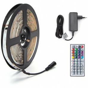 LED Strip Set Digitaal - Aigi Stippi - 5 Meter - 5050-30 - RGB - Waterdicht IP65 - Afstandsbediening - 12V