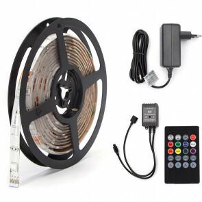 LED Strip Set Muziek Sync - Aigi Stippi - 3 Meter - 5050-30 - RGB - Waterdicht IP65 - Afstandsbediening - 12V