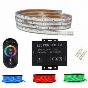 LED Strip Set RGB - 5 Meter - Dimbaar - IP65 Waterdicht - Touch Afstandsbediening - 230V