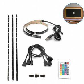 LED Strip Set TV Backlight - Aigi Stippi - 4x0.5 Meter - RGB - USB Voeding - Afstandsbediening - 5V