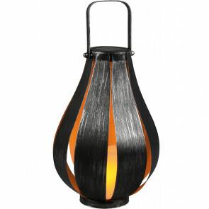 LED Tafellamp met Zonne-energie - Trion Monte - Dag en Nacht Sensor - Spatwaterdicht IP44 - Rond - Mat Zwart - Aluminium