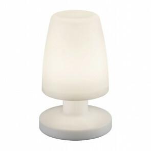 LED Tafellamp - Ovaal - Wit - Kunststof - Spatwaterdicht - USB Oplaadbaar