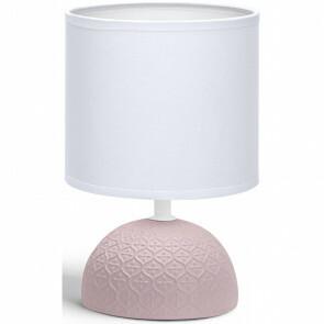 LED Tafellamp - Tafelverlichting - Aigi Conton 1 - E14 Fitting - Rond - Mat Roze - Keramiek