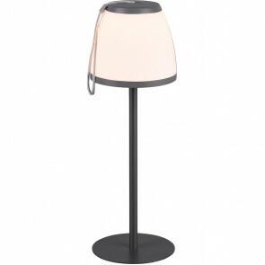 LED Tafellamp - Tafelverlichting - Trion Dimgo - 2W - Warm Wit 3000K - Dimbaar - Rond - Mat Zwart - Kunststof